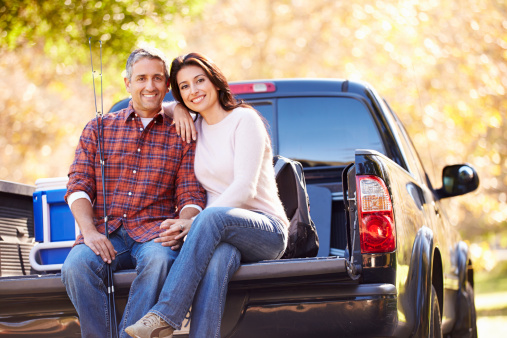 Couple on truck bed